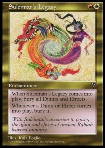 RARE Enchantment * MTG 4x Suleiman/'s Legacy-Visions