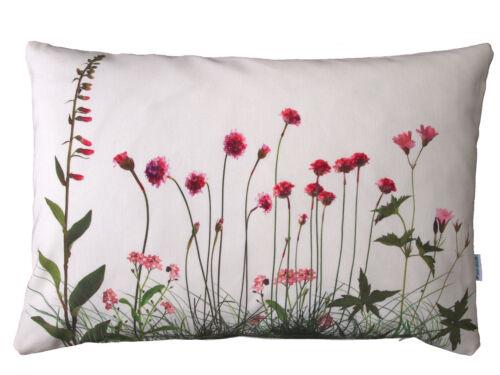 rosa Wiesenblumen Baumwolle Blumenmotiv rose Kissenhülle Blumenkissen
