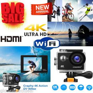 Craphy 4K WIFI Acción Cámara Deportiva Ultra HD Impermeable 12MP Videocámara DV