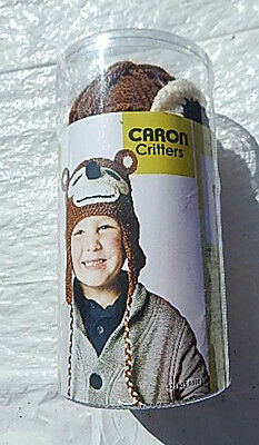 """caron Critters"" Knit/crochet Brown & Tan Monkey Hat Kit - Nip & Smoke Free Home"