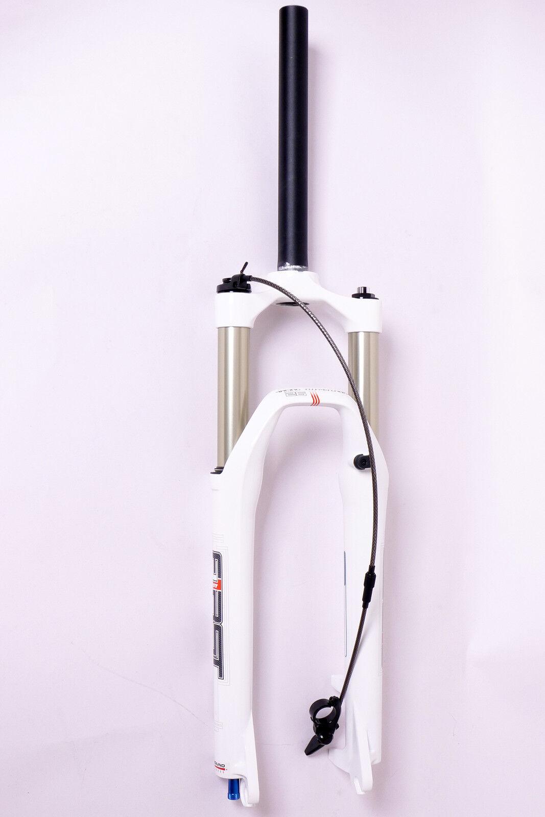 RST First RLC SOSPENSIONE MTB Platinum MOTO FORK 100mm,1 18 26 Disco Bianco