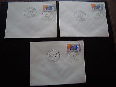 Briefmarken Treu Frankreich 3 Umschläge 1 Tag 22/3/1969 Conseil Von Europa Cy93 Französisch Hat