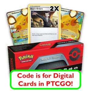 Pokemon-Trainer-039-s-Toolkit-Digital-Code-Card-for-Dedenne-GX-Boss-039-s-Orders-amp-More