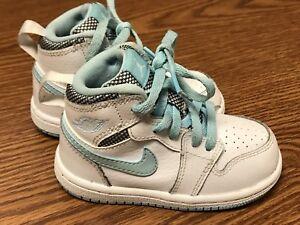 30f0fd51aa9b Nike 705324 106 Jordan 1 Still Blue White Toddler Baby Shoes ...