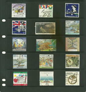 Australia-6-pages-large-collection-stamps