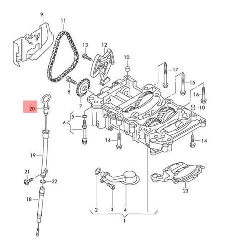 Genuine Oil Dipstick AUDI A4 Avant S4 quattro 8EC 8ED 06D115611A ...