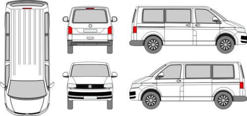 VW T6 Heckscheibe Scheibe hinten für Heckklappe OHNE Wischerloch grün ab 2015
