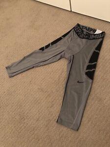 éxtasis acelerador gloria  Nike Pro Combat 3/4 Longitud Mallas Pantalones de compresión para hombre  Dri-Fit Tamaño: mediano | eBay