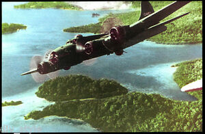 WWII-B-17-Flying-Fortress-bomber-postcard