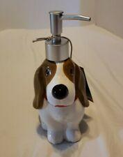 NEW Pioneer Woman Earthenware Charlie Bassett Hound Dog Pump Soap Dispenser