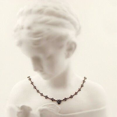 Stunning Bohemian all around carousel garnet necklace || ГРАНАТ 036EFL