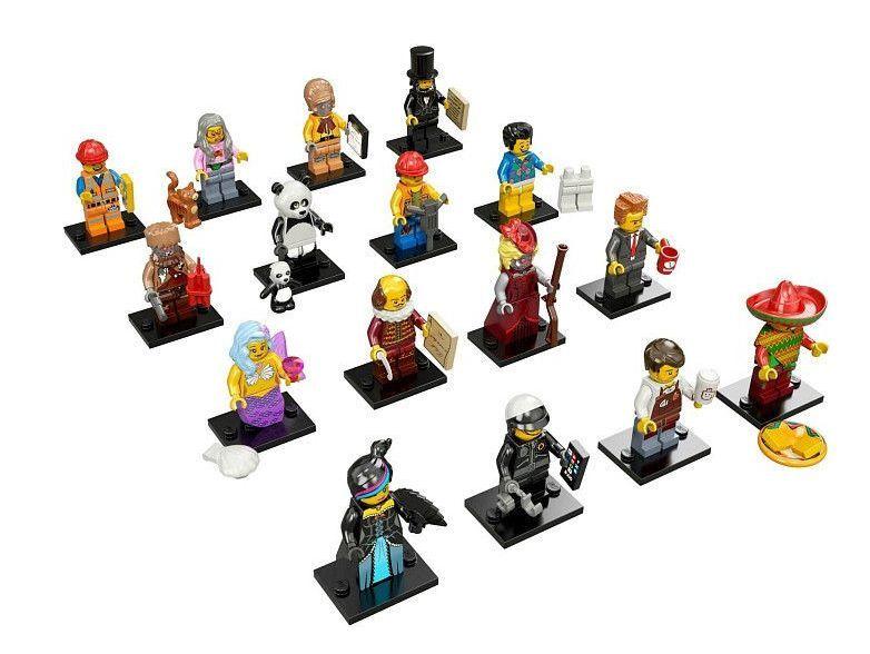 Lego nouvelle série 12 le film jeu complet de 16 MINI FIGURINES minifigs 71004 figues