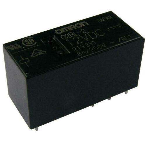 Omron g2rl-2-12 relais 12 V DC 2xum 8 a 360r PCB POWER RELAY g2rl212dc 854749