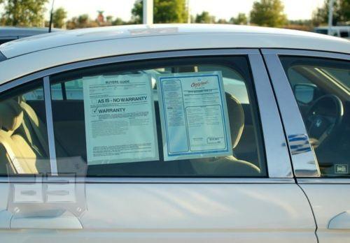 08 Honda ACCORD PILLAR POSTS Trim chrome covers 6 pcs.