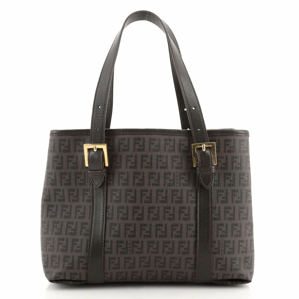 Fendi Belted Handle Tote Zucchino Coated Canvas Small  | eBay