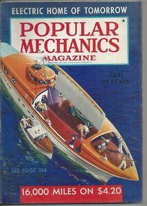 Magazine Popular Mechanics August 1939 Sea Patrol Mars Merchant Fleet