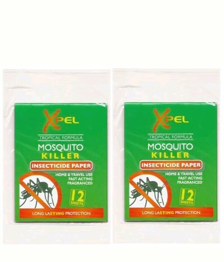 Xpel Xpel Xpel Moustique Tueur insecticide Papier 2 X 12 Pack Maison de Vacances de longue durée. b39fd8