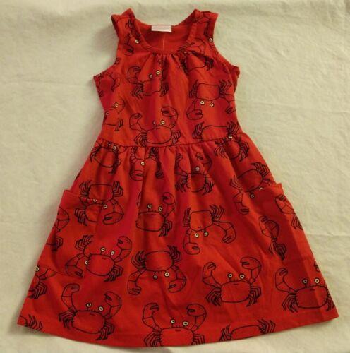 NWT Hanna Andersson Crab Print So Breezy Sundress Girls Sleeveless Tank Dress
