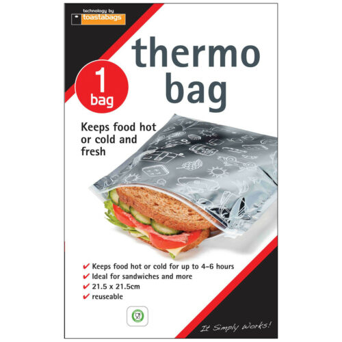 Toastabags Reusable Thermo Bag Keeps Food Hot or Cold /& Fresh Sandwiches Pies