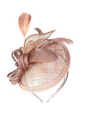 Royal Blue Headband Aliceband Hat Fascinator Weddings Ladies Race Royal Ascot 23