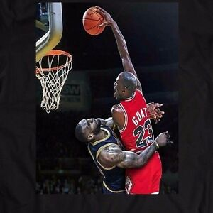 f944ee37f5a6d8 Image is loading MICHAEL-JORDAN-DUNK-ON-LEBRON-JAMES-CUSTOM-OLDSKOOL-