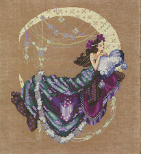 Cross Stitch Chart / Pattern Mirabilia Crescent Moon Flowers Woman #md137