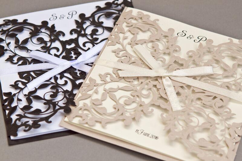 Einladungskarten Hochzeitskarten HE060 mit Umschlag, Hochzeitseinladungskarten