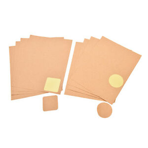 4-Sheets-Kraft-Scalloped-Round-Stickers-Blank-Wedding-Favours-Labels-RustiODCA