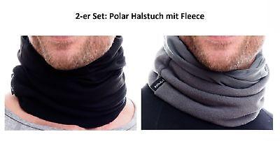 2-er Set: Hilltop Halstuch Mit Fleece, Motorrad/schlauchschal/ski Gesichtsmaske