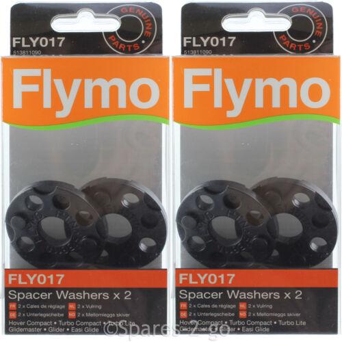 4 x Flymo easi Glide 300 300V 300vx tondeuse Espaceur Rondelle FLY017 véritable partie