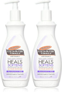 Palmers Cocoa Butter 13.5oz With Vitamin-E Fragrance Free Lotion Pump - 2 Pack