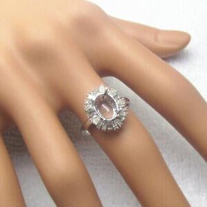 Semi-mount 7x9mm Oval Cut Wedding Diamonds Solid 14K Gold Ring Setting