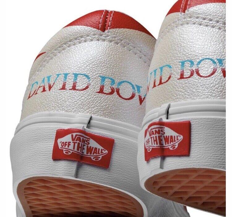 Vans Old Skool x David Bowie Aladdin Sane True White Red Blau DB Größe 3.5 13