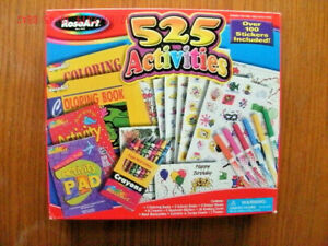 NEW-RoseArt-525-Activities-Kit-w-100-stickers-crayons-markers-coloring-books