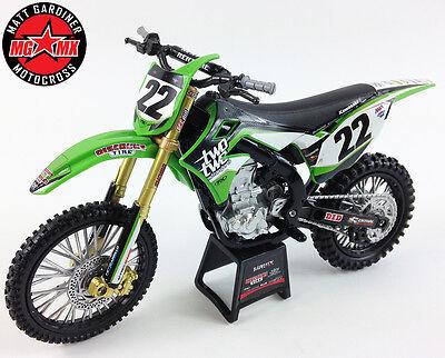 CHAD REED Kawasaki KXF 450 - 1:12 Die-Cast Motocross Mx Toy Model Bike New Ray