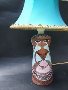 MARTIN-BOYD-BROWN-LADY-LAMP-BASE-AUSTRALIAN-POTTERY-SIGNED-RARE-50-039-S