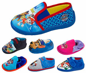 1391a18c3 Image is loading Boys-Girls-Paw-Patrol-Slippers-Kids-Character-Mules-