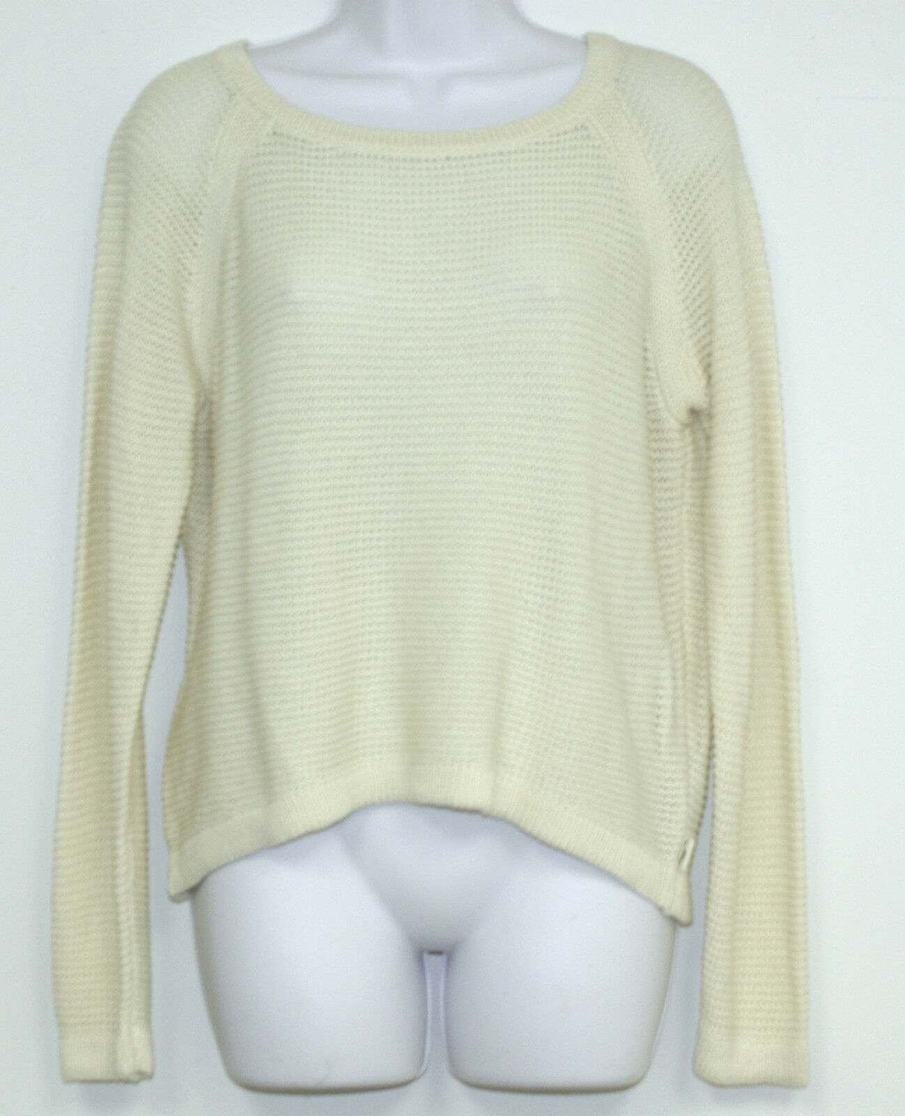 LRL Ralph Lauren Active Sweater Medium Cream No Logo High low NEW