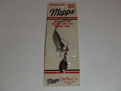 """Vintage Mepps Aglia Mino Spin OLD STOCK  Rare Weedless Fishing Lure 1 3//4/"""" #0"""