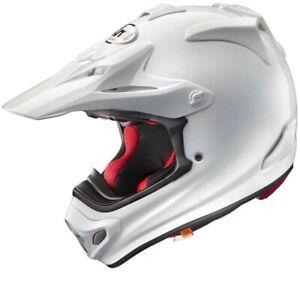Arai MX-V Plain Gloss White MXV Motocross Offroad MX Race Helmet Adults