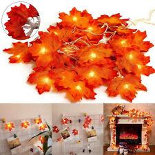 3M Thanksgiving Harvest Maple Leaves Fall Garland 30 LED String Lights Decor