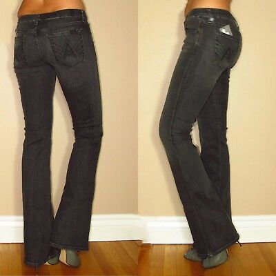 Size 24 SEVEN FOR ALL MANKIND MID RISE BOOTCUT JEANS 31 MSRP $169 Dark Blue