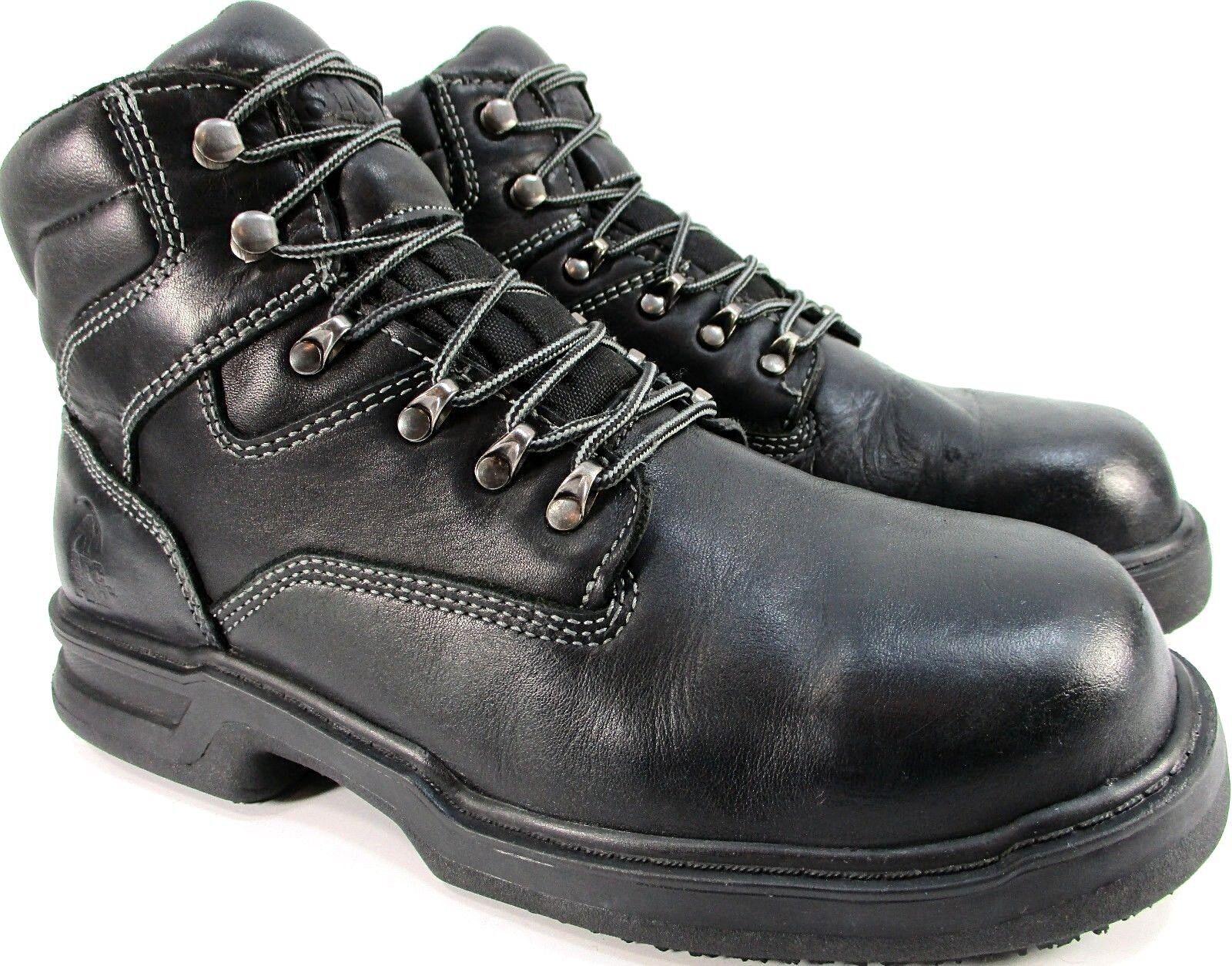 SFC Pro Hombres Puntera De Acero botas De Trabajo euro 45.5 Negro Estilo 8282