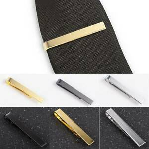 Luxury-Men-039-s-Stainless-Steel-Tone-Simple-Necktie-Tie-Bar-Clasp-Clips-Clamp-Pins