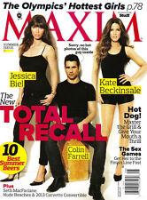 MAXIM 07/08 2012 JESSICA BIEL Colin Farrell KATE BECKINSALE Janina Gavankar @NEW