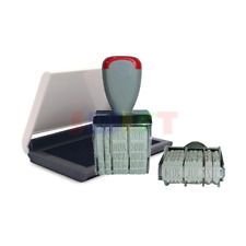 Rubber Date Stamp Business Office School Manual Set Dater Black Ink Pad