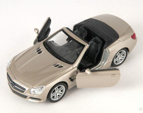 Blitz envío mercedes sl 500 convertible 2012 champán Welly modelo auto 1:34 nuevo