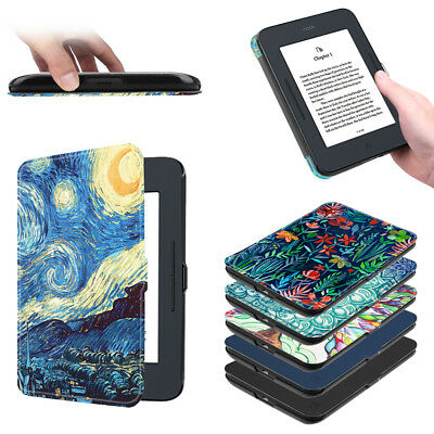 Fintie SlimShell Case for Nook GlowLight 3 Ultra Thin and Lightweight PU Leather Protective Cover for Barnes and Noble Nook GlowLight 3 eReader 2017 Release Model BNRV520 Constellation