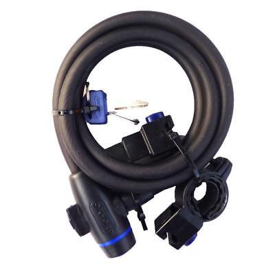 Oxford Essential Cycle Lock long cable Bike key lock Black  OF246