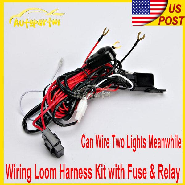 Led Hid Fog Spot Work Light Wiring Loom Harness 12